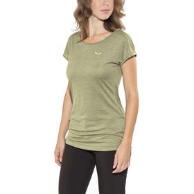 SALEWA Puez Melange Dry T-shirt Femme, capulet olive melange
